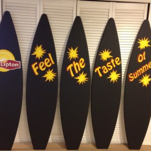 Chalkboard surfboard personalized for free