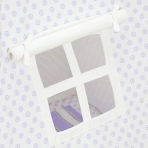 White with Purple Mini Flowers Kids Teepee