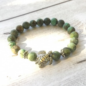 African Turquoise Turtle Bracelet