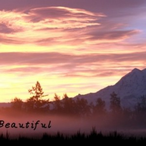 "Nature Professional Photograph.""Life is Beautiful"" October Sunrise. 18 x 30 Matted Fine Art Print, Home Decor,Wall Decor,Sign,Wall Hanging."