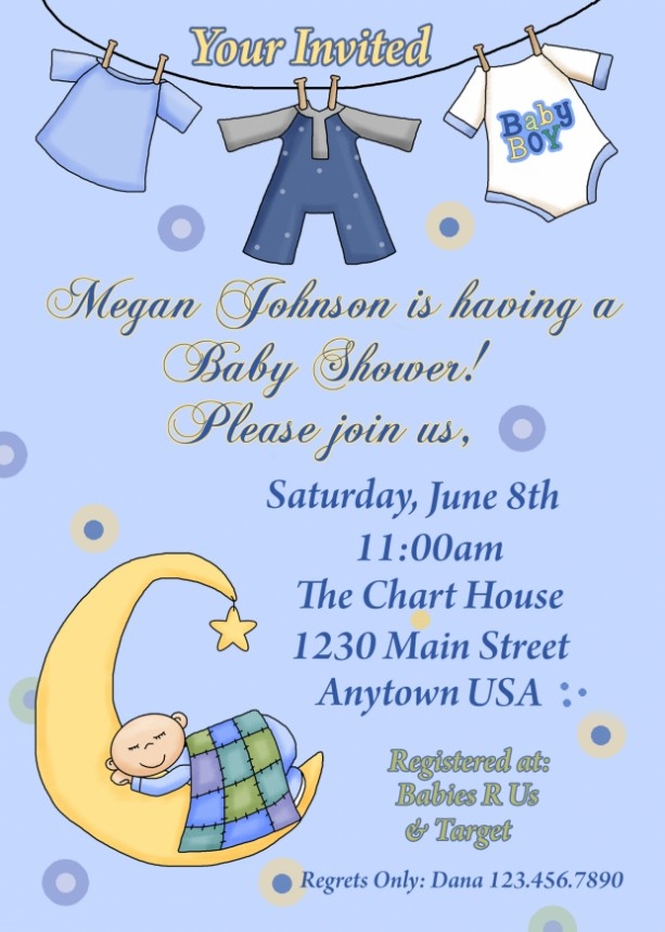 Baby Shower Invitation, Baby Shower, Invitations, New Baby, Baby Boy