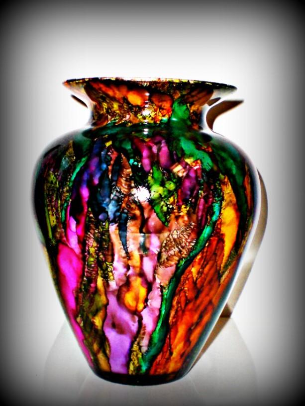 Vase Alcohol Ink Design Vase Aftcra