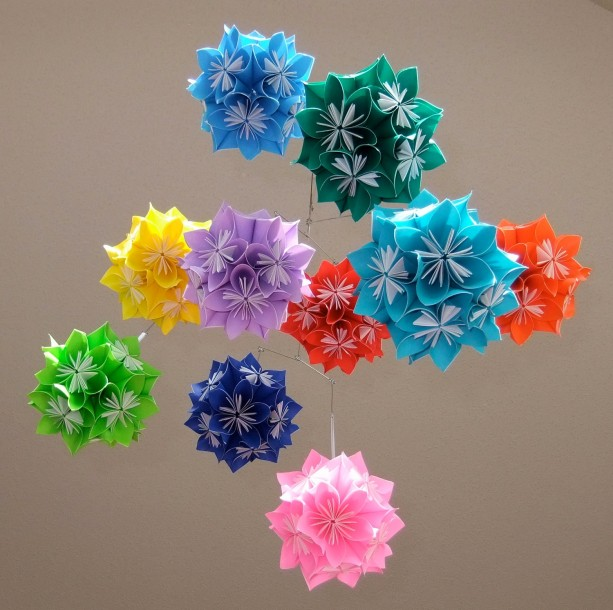 DIY origami Kusudama Flower Ball - PDF. $5.00, via Etsy ... | 610x613