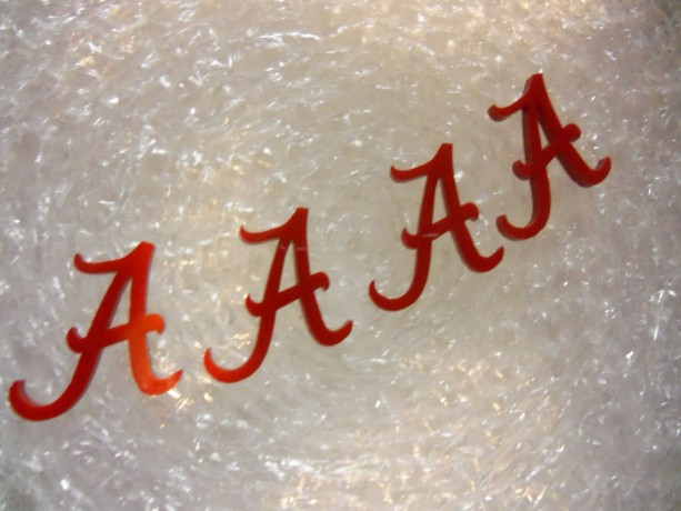 ALABAMA A charms,  letters, Crimson Tide University of Alabama letter A Alabama laser cut charms laser cut letters