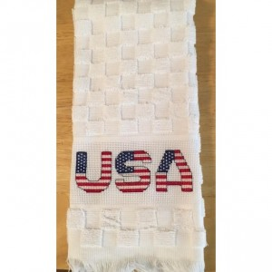 USA Patriotic hand towel