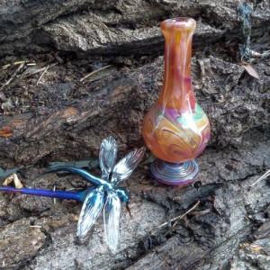Handmade Dragonfly Essential OIl Bottle