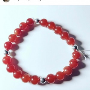 Exquisite, Gorgeous Red Cornalia/Silver Bracelet