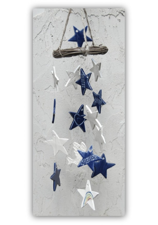 Personalized Celestial Wind Chime Peace in the Stars
