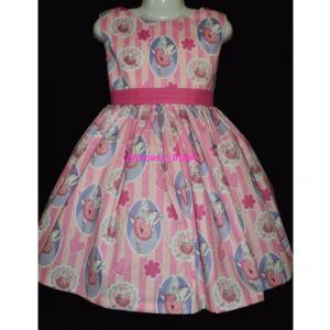 NEW Handmade Disney Winnie the Pooh Blue Gingham Dress Sz 12M-14Yrs
