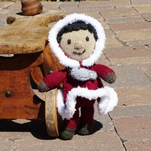 Hand Knitted Doll, Alaskan Doll, Inuit, Eskimo Doll, Doll for Boys, Stuffed Doll, Kids Toy