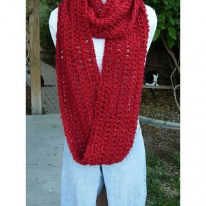 Extra Large Oversized Super Soft Candy Apple Red Infinity Scarf