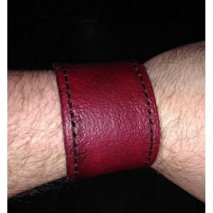 Custom Handmade Leather Wrist Strap w/ snap closure