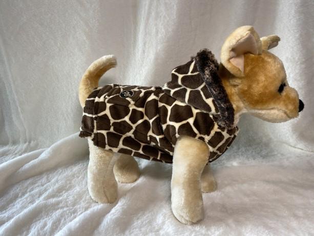 """Ultra Fleece Giraffe hoodie XXS 13-14"""" girth"""