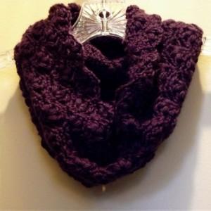 Women's Plum Purple Cowl Scarf