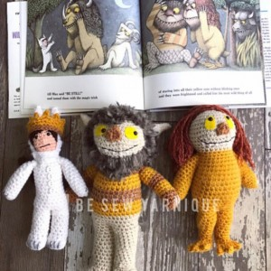 Inspired by Where the Wild Things Are character dolls plushies