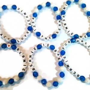 Bernie Sanders Bracelet Set of 3 - Blue and White