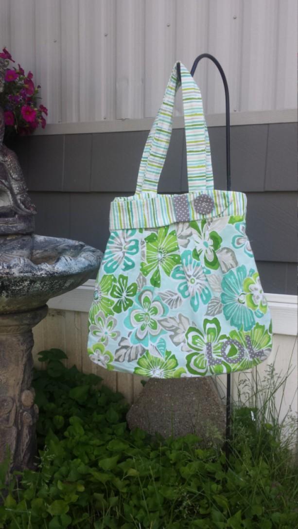 LOL! Cute Floral Hibiscus Shoulder Bag Ooak
