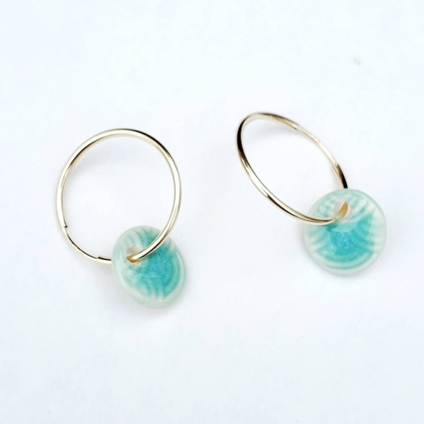 Charming hoop earrings in sterling or gold fill