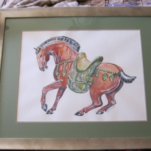 Tang Horse Original watercolor painting
