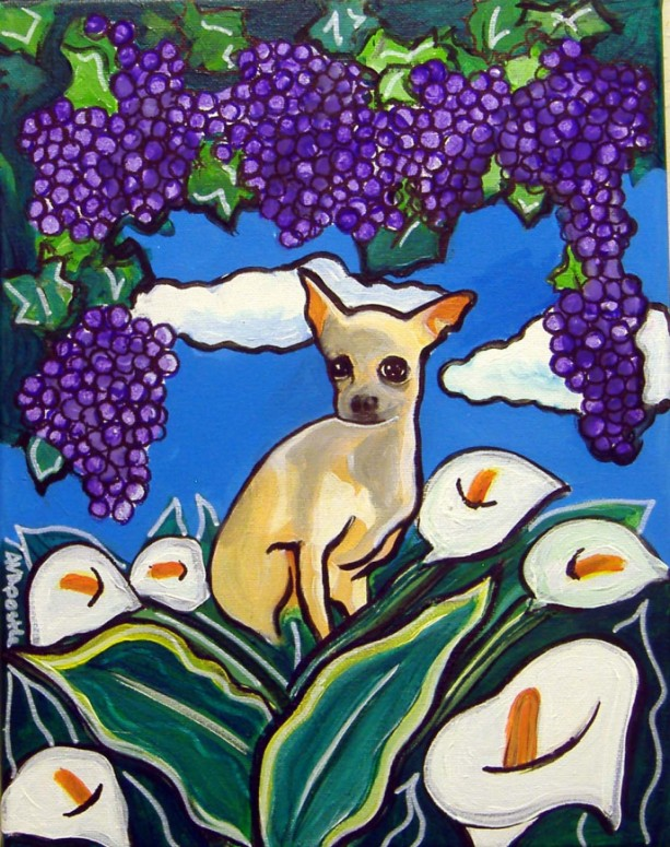 Mexican Folk Art - CHIHUAHUA - PRINT Signed By Artist A.V.Apostle
