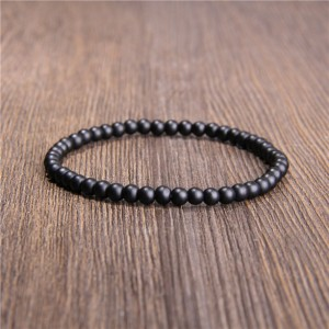 Black Onyx Beads Bracelet, Minimalist Onyx Bracelet, Black Onyx Matte 6mm Gemstone Beaded Bracelet, Onyx Bracelet, For Men Women