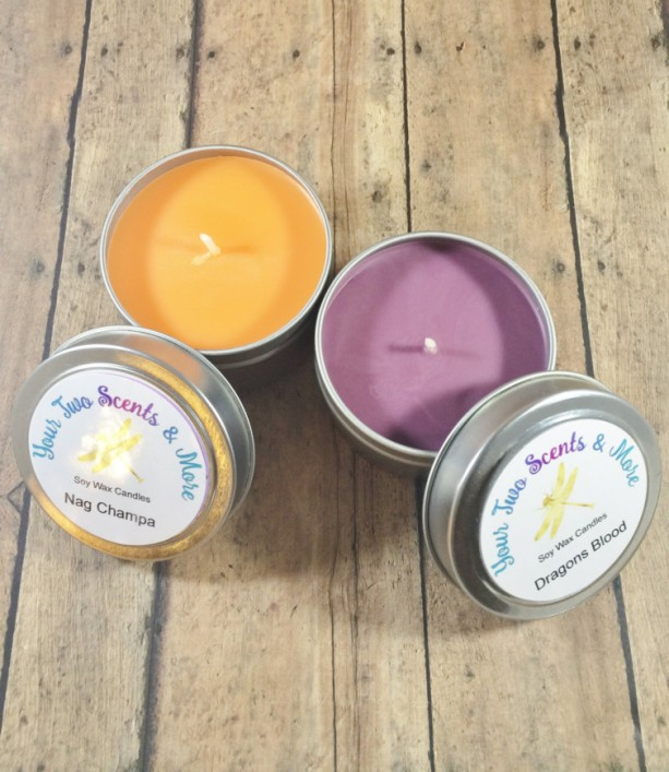 Candle Gift Set, Natural Soy Candles, Vegan Candles, Soy Wax Candles, Eco Friendly Candles, Scented Soy Candles, 4 Oz Candle Tins