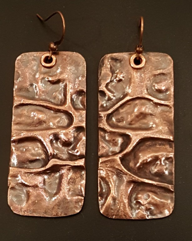 AIR CHASED COPPER EARRINGS DANGLES