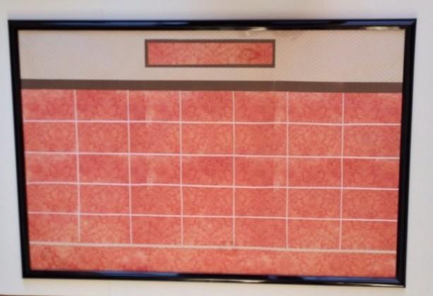 Orange & Chocolate Damask Dry Erase Calendar