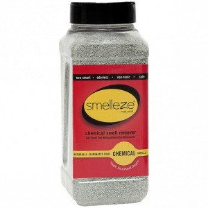 SMELLEZE Natural Chemical Odor Remover Granules: 2 lb. Bottle. Perfect for Floors & Outdoor Chemical Smells