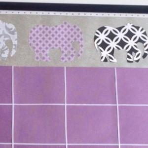 Elephant Dry Erase Calendar