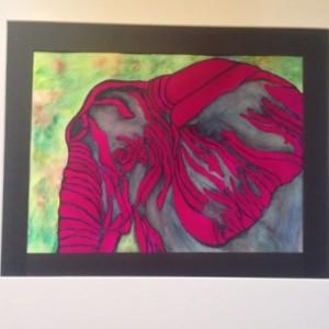 Magenta African Elephant