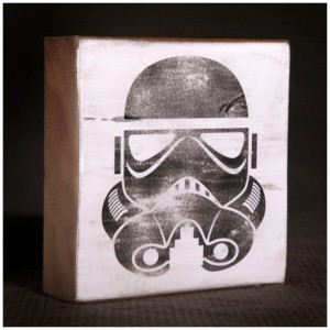 Star Wars Stormtrooper Reclaimed Wood Block Art Piece