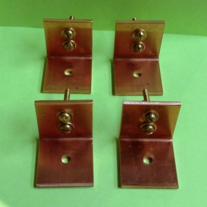 Set of 4 HEAVY DUTY Solid Copper Ceiling Mounting Brackets FREE Shipping to U S Zip codes