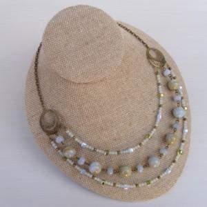 Triple Strand Chalcedony Necklace