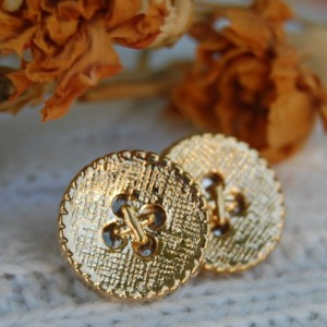"""Buttons"" Button Stud Earrings"