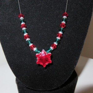 Christmas Edelweiss Necklace