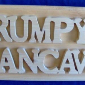 Wooden Plaque Grumpy's Mancave. Free Shipping!