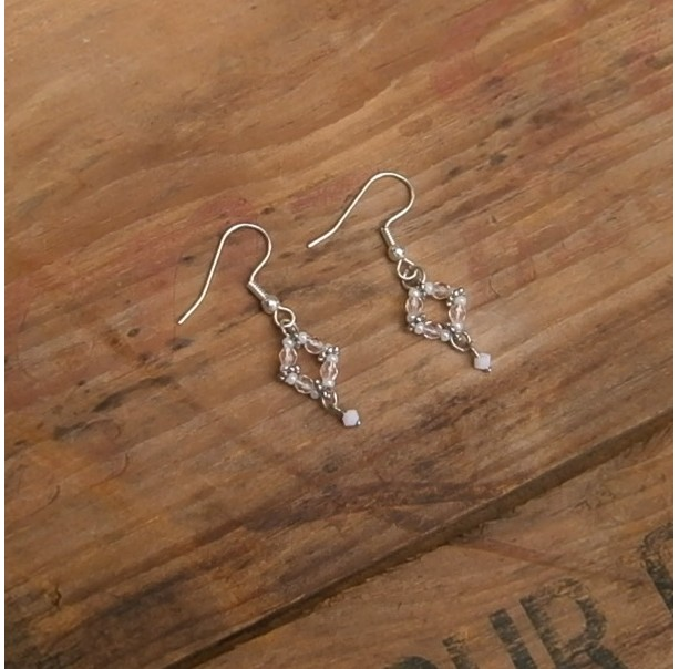 Pale pink dangle earrings