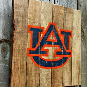 Rustic Handmade Auburn University War Eagle Reclaimed Wooden Pallet Sign