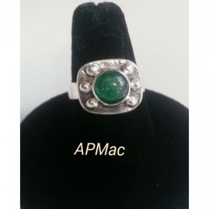 Bold Green Aventurine Statement Ring!