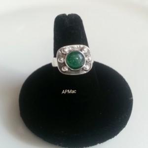 Bold Green Aventurine Statement Ring!