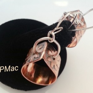 Copper flower tear drop earrings just in time for spring!