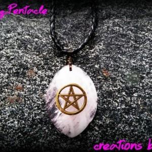 Rose Quartz Pentacle Necklace