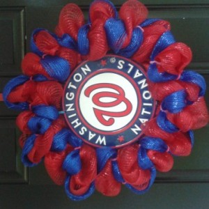 Washington Nationals baseball wreath