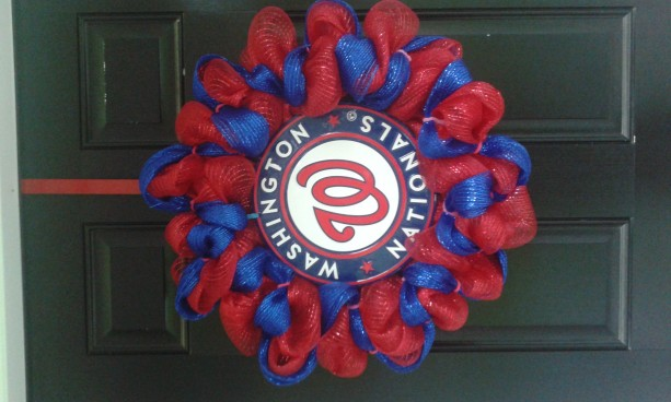 Washington Nationals baseball wreath