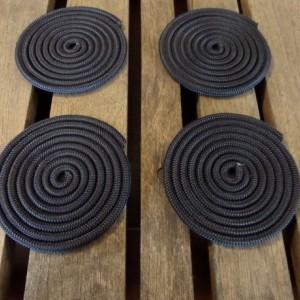 Set of 4 Navy or White Coasters Non Slip Rope Coasters Coastal Nautical Beach Rustic Decors Fun Gifts