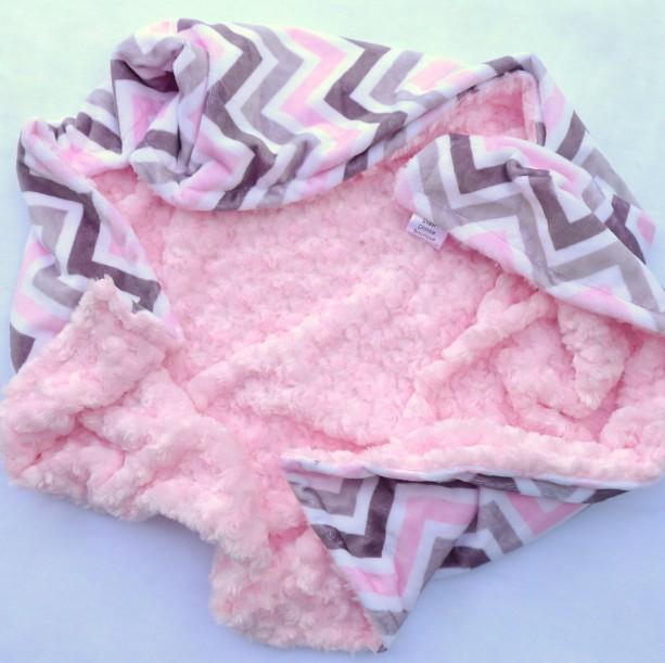 Chevron Baby Blanket Baby Blanket Pink And Grey