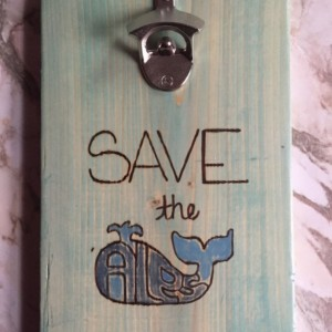 Save The Ales Whale Wall Mounted Bottle Opener