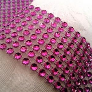 Napkin Rings Fuchsia Bling Rhinestone Crystal Elegant Party or  Wedding Napkin Rings 25 Pc Lot