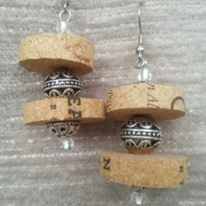 Double Trouble Wine Cork Earrings